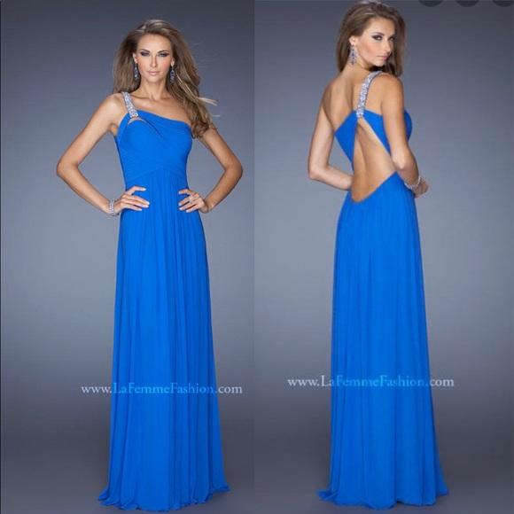 La Femme Dresses & Skirts - La femme blue prom gown